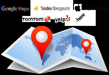 Haritalara kayıt edilen servisler