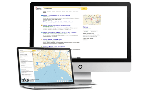 Yandex haritalara, navigasyona kayıt