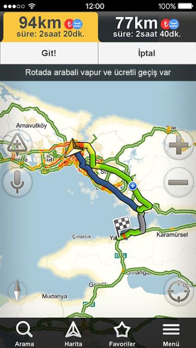 Yandex Navigasyon Güncelleme