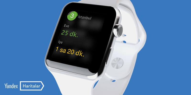 Yandex Haritalar Apple Watch Uygulaması