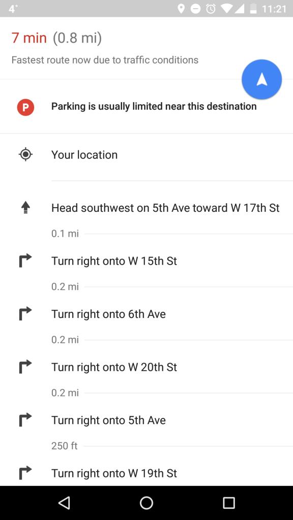 Google Haritalara Boş Park Yeri