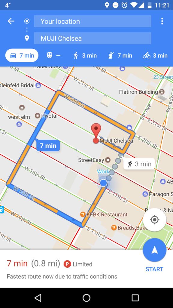 Google haritalar ile park yeri bulma